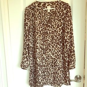 Leopard print tunic/dress Chico's size 1